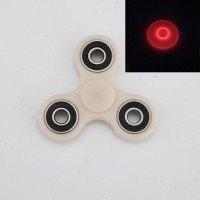 Fidget spinner - világít a sötétben - piros