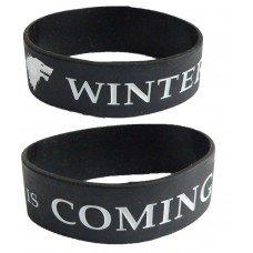 Game of Thrones - Trónok harca - Winter is coming szilikon karkötő fekete