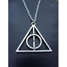 Harry Potter Halál Ereklyéi nyaklánc ezüst